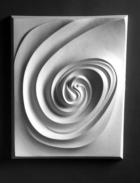 """Spiral"" 2004; 14x18x2"" (original in cellulose filler)"